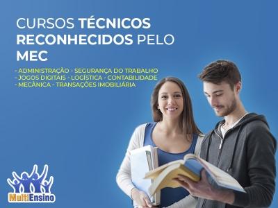 Cursos Técnicos reconhecidos pelo MEC - Veja Detalhes