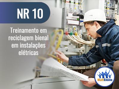 NR 10 - Treinamento em reciclagem bienal em instalações elétricas -Veja Detalhes