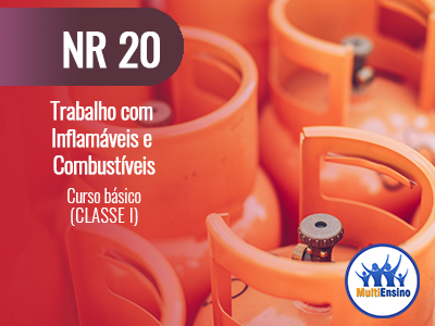 NR 20 Trabalho com inflamáveis e combustíveis (curso básico CLASSE I).  Veja detalhes: