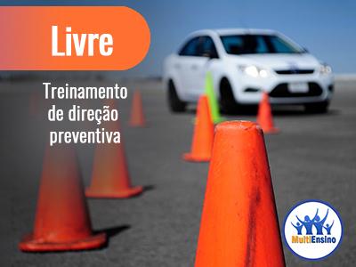 Treinamento de direção preventiva. Veja detalhes: