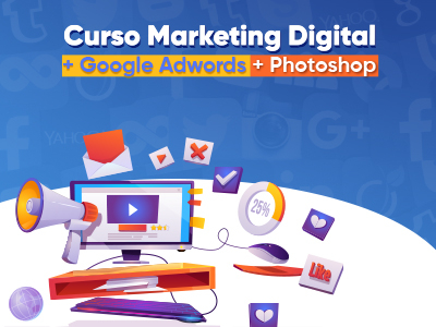 Marketing Digital + Photoshop + Google Adwords - Veja detalhes