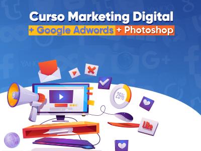Marketing Digital + Photoshop + Google Adwords - Veja detalhes