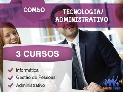 Curso Combo - Tecnologia + Administrativo - Veja detalhes